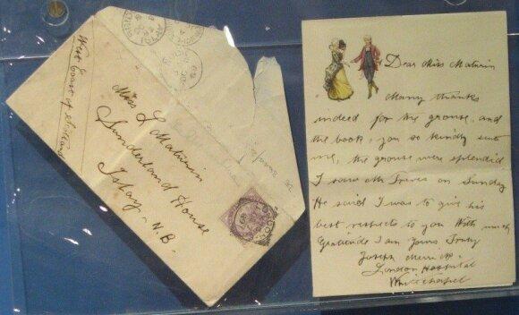 Vienintelis išlikęs Josepho Merricko laiškas