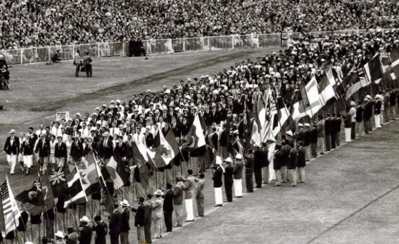 On this day in sport a new Olympic tradition commenced in Melbourne. Photo courtesy of the MCG archives.