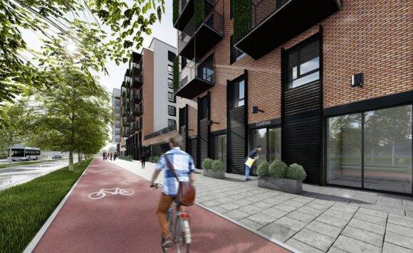Šnipiškėse atsiras dar viena moderni gatvė: tiesti bus pradėta dar šį mėnesį