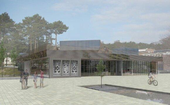 """Pradėtas antras Nidos kultūros ir turizmo informacijos centro """"Agila"""" rekonstrukcijos etapas"""