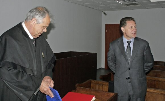 Advokatas Valentinas Staugaitis ir Povilas Milašauskas