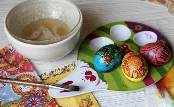 Kažin ar girdėtas kiaušinių marginimo būdas