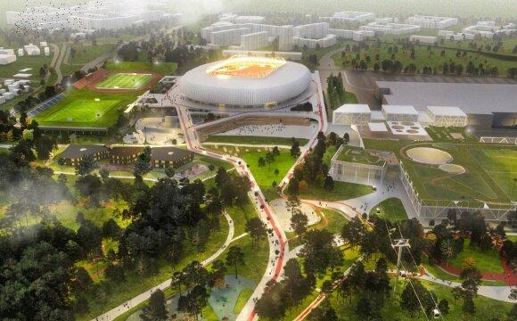 Nacionalinio stadiono epopėja: po mero ir Vyriausybės konflikto – kompromiso paieškos