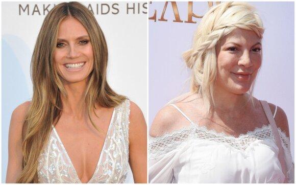 Heidi Klum ir Tori Spelling