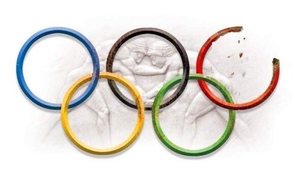 Imtynės, olimpiniai žiedai