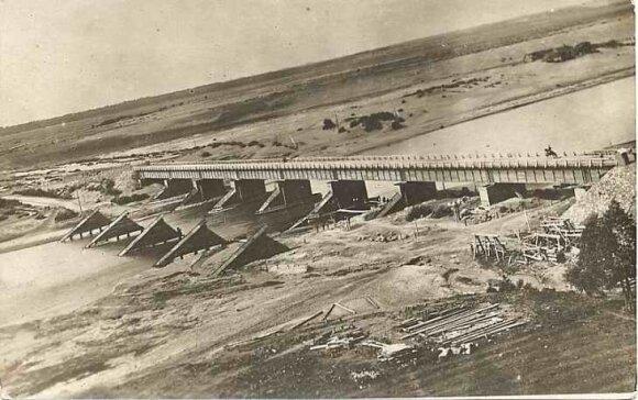 Merkinės tiltas per Nemuną pirmojo pasaulinio karo metu