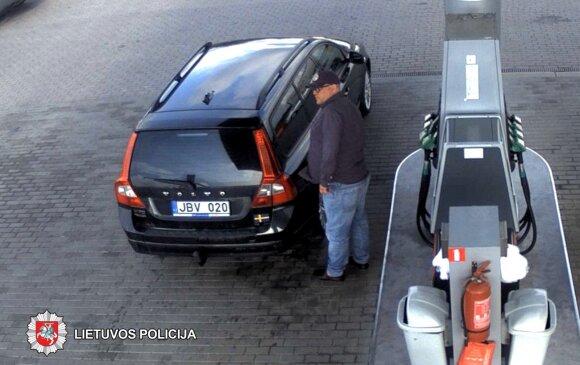 """Policija prašo atpažinti dyzelino vagį, važinėjantį juodu """"Volvo"""""""