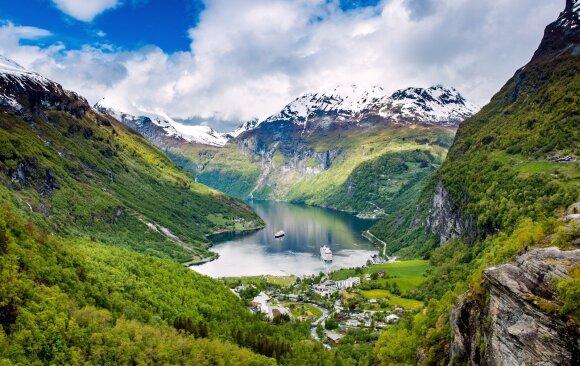 Geirangerio fjordas