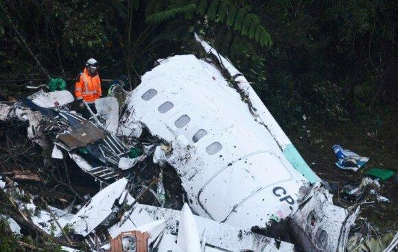 """Lėktuvo su """"Chapecoense"""" futbolininkais katastrofa"""