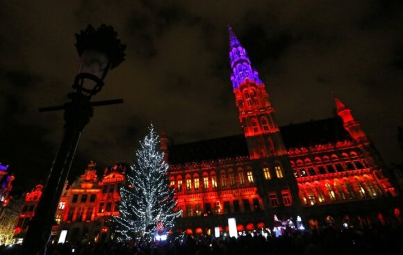 Kalėdiška Grand Place Briuselyje