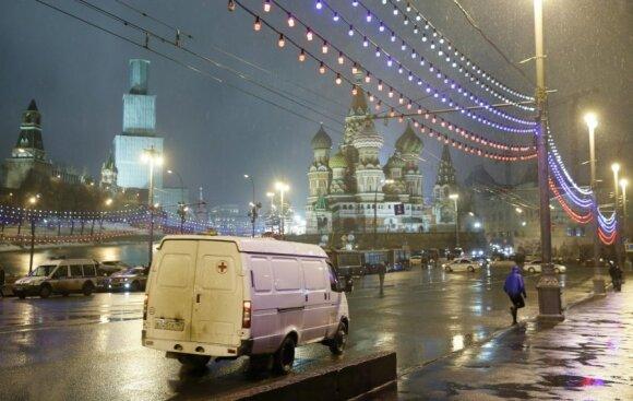Maskvos centre nušautas B. Nemcovas