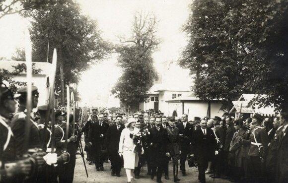 Parodos atidaryme LR Prezidentas A.Smetona. 1928 m.