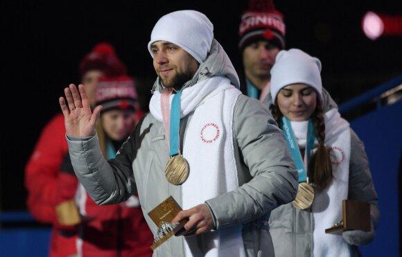 Pjongčange medalį iškovojęs rusas akmenslydininkas oficialiai apkaltintas vartojęs dopingą