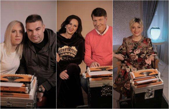 Eduardas Strašunskas su žmona, Liveta ir Petras Kazlauskai, Jelena Tulčina / Foto: Aleksandras Brokas