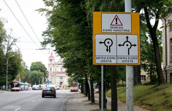 Naujas Olandų žiedinės sankryžos ženklinimas