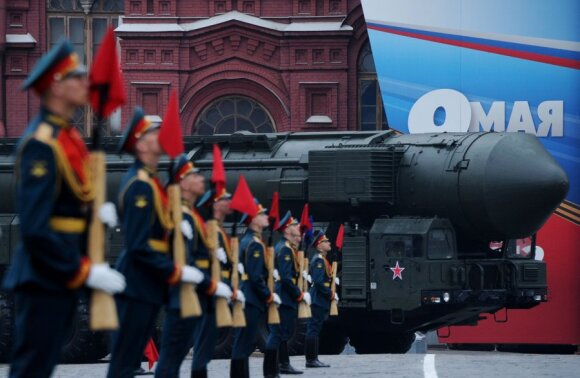 Pergalės dienos paradas Maskvoje