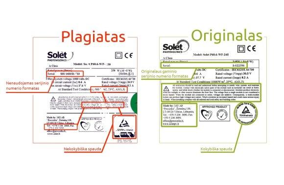 Plagiato ir originalo palyginimas