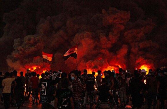 Protestai Irako Basros mieste 2020 m.
