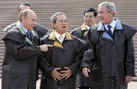 APEC 2007 m. Australija, G. Bushas, S. Chulanont  ir V. Putinas