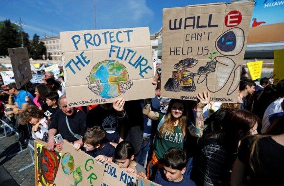 Protestas Italijoje prieš klimato kaitą