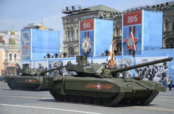 Rusija garsiai gyrėsi moderniausiu tanku, tačiau realybė visai kitokia