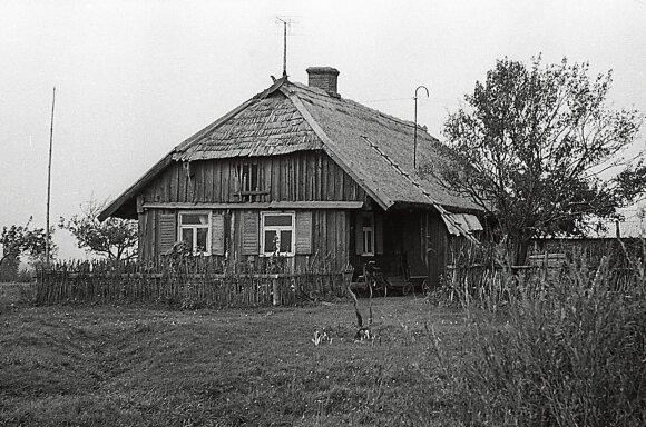 Sena kaimo sodyba  // Juozo Mickevičiaus, 1970 m. nuotr.