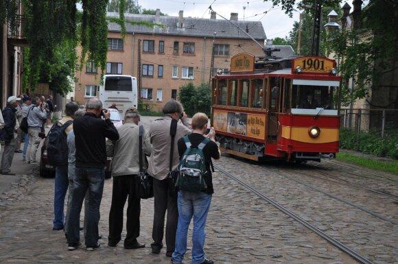 Miesto transporto fanai Rygoje