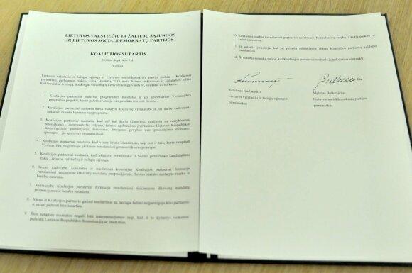 LŽVS ir LSDP koalicijos sutartis