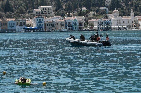 Graikų kariai Megistės saloje