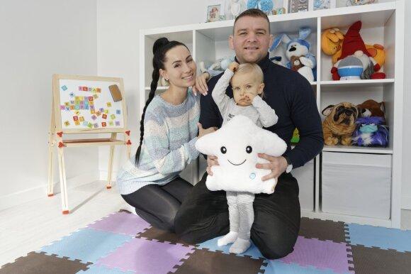 Aleksandras Kazakevičius su žmona Greta ir sūnumi (Foto: Egidijus Tutkus)