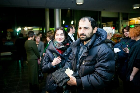Maratas su žmona Armine