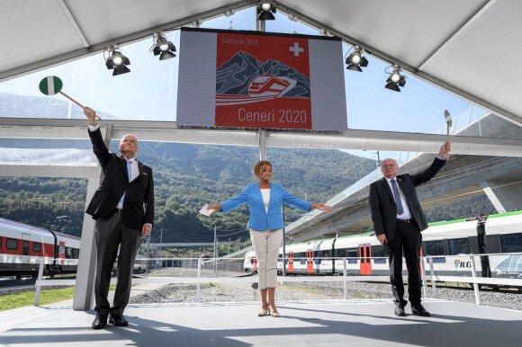 Naujasis tunelis per Šveicarijos Alpes