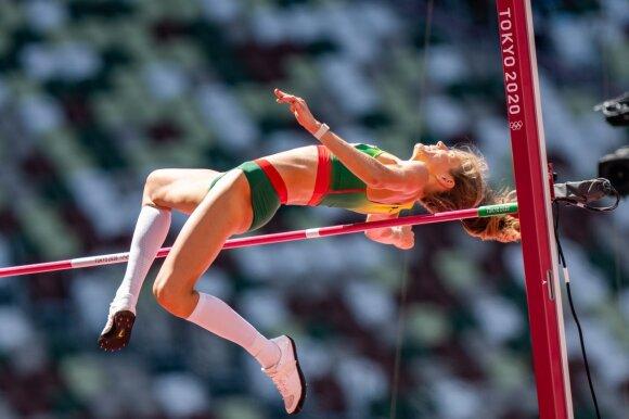 Airinė Palšytė Tokijo olimpinių žaidynių šuolių į aukštį atrankoje