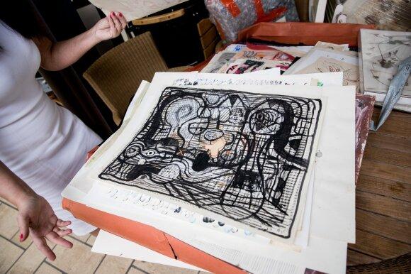 Zuokų namuose rasti menininkų daiktai