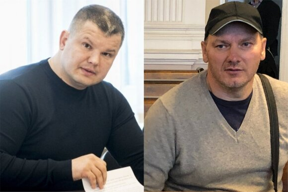"""Vaizdai iš knygos """"Policijos dievai"""": Tomas Ruchtinas (kairėje) ir Ričardas Pocius"""