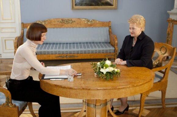 Monika Garbačiauskaitė-Budrienė, Dalia Grybauskaitė