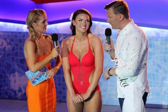 J. Leonavičiūtė išsigando, kai baseine nuslydo jos maudymosi kostiumėlio kelnaitės
