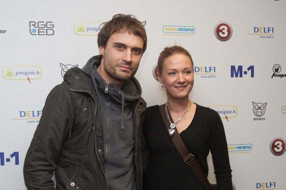 Mantas Jankavičius su žmona Ieva