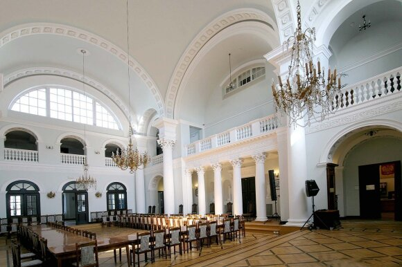 Ši pokylių salė mena pirmąjį viešą aštuonmečio Fryderyko Chopino pasirodymą