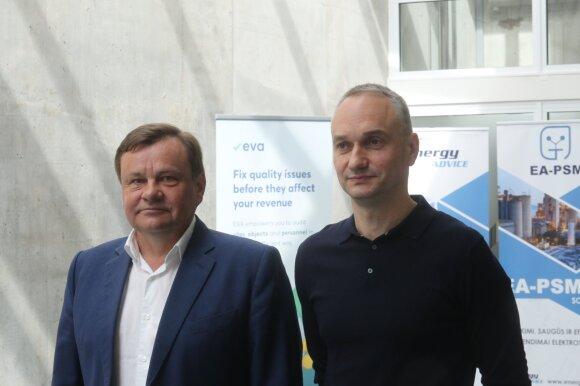 Vydas Gedvilas (kairėje), Mindaugas Balčiūnas