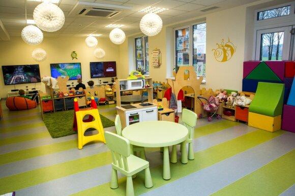 Sanatorijose yra įrengti kambariai vaikams
