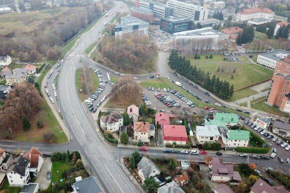 Kauno klinikų automobilių stovėjimo aikštelės vieta