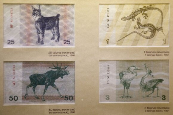 Talonas notes, Lithuania's temporary currency in the early 1990s