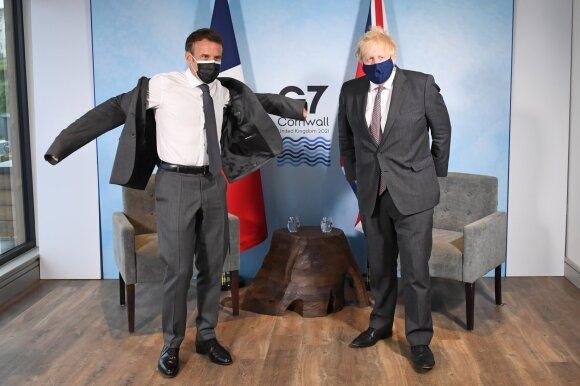 Emmanuelis Macronas, Borisas Johnsonas