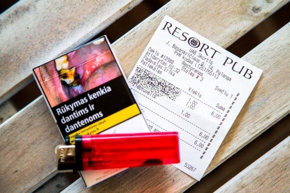 """Cigarečių kaina Palangoje, """"Resort Pub"""""""