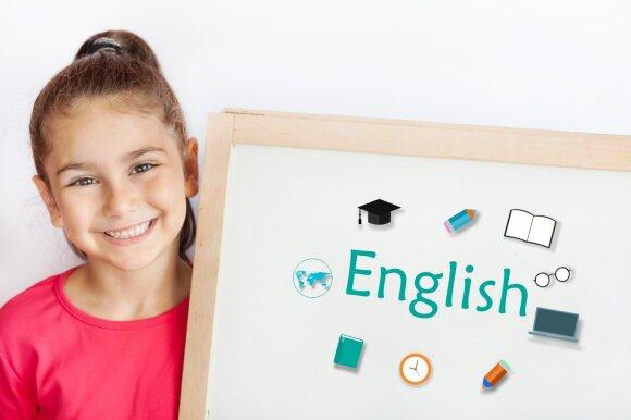 Vaikai mokosi užsienio kalbos