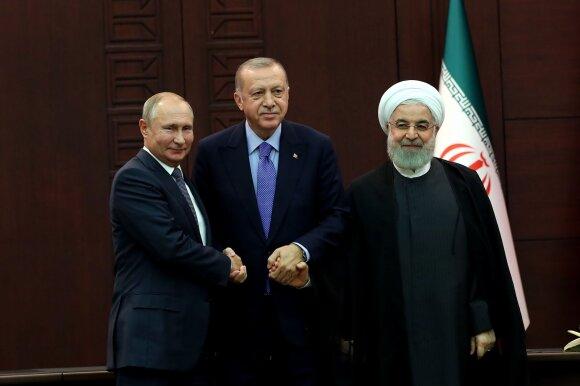 Vladimiras Putinas, Recepas Tayyipas Erdoganas, Hassanas Rouhani