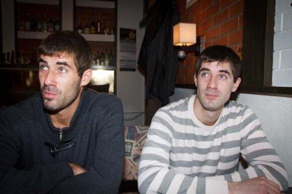 Maksimas Cigalka su broliu Jurijumi