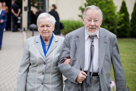 Vytautas Landsbergis su žmona Gražina