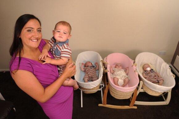 """Moteris per metus pagimdė keturis vaikus <sup style=""""color: #ff0000;"""">(papildyta nuotraukomis)</sup>"""